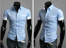 fashion trends collar short sleeves tiny striped accent casual