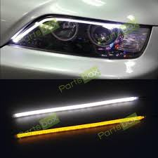 nissan tsuru 2014 2x 45cm white amber switchback strip led light headlight