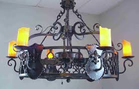 Tuscan Ceiling Fans With Lights Wrought Iron Antler Chandeliers Lighting Rustic Tuscan