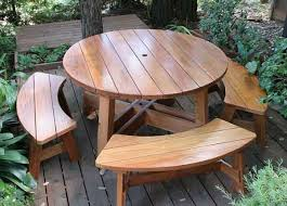 Diy Small Round Wood Park Picnic Table With Detached Octagon Bench by Round Picnic Table U003dfor Kids Area Ceramic Studio Pinterest