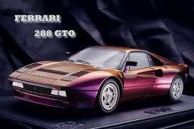 ferrari new model new 1 18 bbr car model chameleon ferrari 288 gto 1984 black base