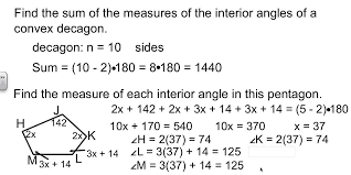 Interior Angle Sum Of A Decagon Geometry 6 1 Angles Of Polygons Youtube