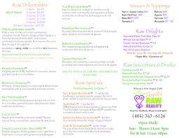 menu tassili u0027s raw reality