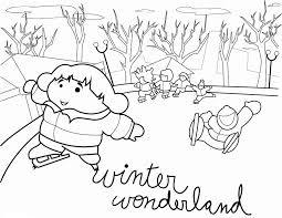 winter coloring page for kids free snowman preschool coloring