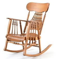 Mission Oak Rocking Chair Early 20th Century Oak Rocking Chair Ebth