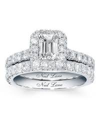 neil bridal set neil diamond bridal set 1 7 8 carats tw 14k white gold