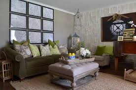 bed sage green sofa eclectic austin with solid color decorative