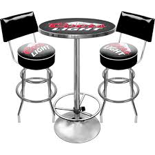 coors light bar stools sale coors light combo 2 stools with back table man cave gift