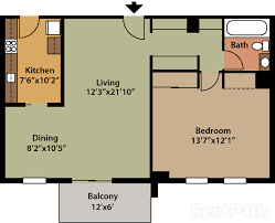 one bedroom floor plan barton house apartments arlington va