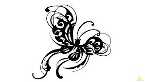 butterfly tattoo design free vector u0026 clipart design
