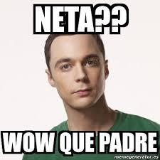 Neta Meme - meme sheldon cooper neta wow que padre 4945278