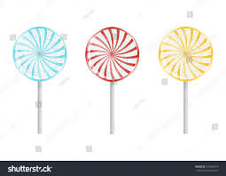 set colorful birthday lollipops isolated on stock vector 575644678