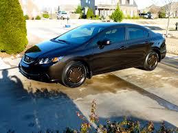 hf honda civic light copper on black base wheels honda civic hf