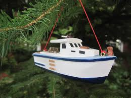 ornament wooden lobster boat the smiling cow
