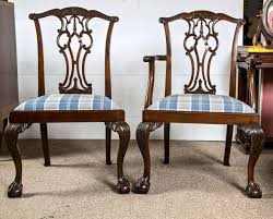Set Of Eight Chippendale Dining Chairs With Ball And Claw Feet At - Chippendale dining room furniture