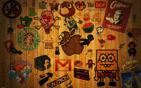 wallpaper apple cartoon wood texture hd picture image