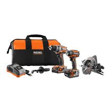 home depot black friday 2008 ad ridgid 18v 3 brushless tool kit 2 free bare tools 349 tax home