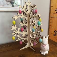 wooden easter trees u2013 happy easter 2017