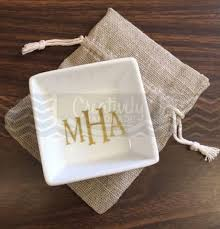 on sale personalized monogram ring dish jewelry dish jewelry