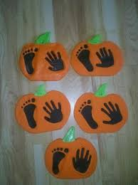 Halloween Crafts For Little Kids - halloween craft i love this one pumpkin prints for my little