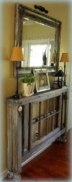Unique Foyer Tables Unique Vintage Furniture Recycling Wood Doors 30 Modern Ideas