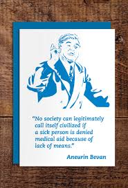 card for sick person aneurin bevan greeting cards radical tea towel
