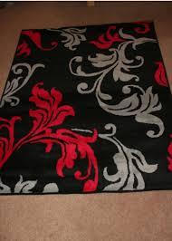 Red And Gray Bathroom Sets Red Grey U0026 Black Floral Rug Home Decor Pinterest Floral Rug