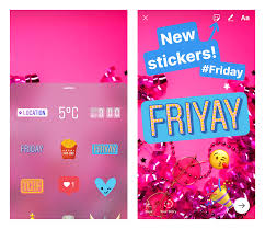 of the new stickers for days of the week instagram