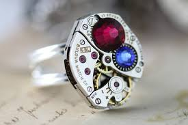 mothers rings silver images Sterling silver mothers ring steampunk ring birthstone ring custom jpeg