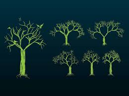 tree designs vector graphics freevector
