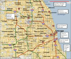 chicago map side chicago map travelsfinders