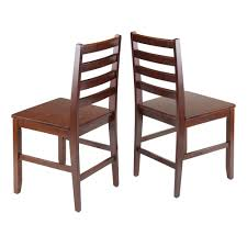 Modern Wood Chair Furniture Amazon Com Winsome Wood Hamilton 2 Piece Ladder Back Chair Chairs