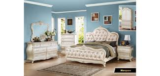 Classic Bedroom Sets Marquee Classic Bedroom Set In Pearl White Finish