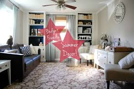 home decor youtube budget friendly summer living room decor youtube intended for