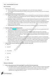 Marketing Case Study Notes for Apple and Qantas Thinkswap