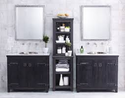Free Standing Wooden Bathroom Furniture Decoration Ideas Cozy Black Walnut Wood Bath Vanity Cabinet Also