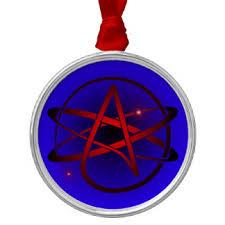 atheist atom symbol ornaments keepsake ornaments zazzle