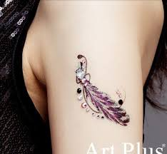feather luxury tattoos skin jewelry for wedding arm shoulder lower