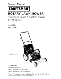 craftsman lawn mower 917 389062 user guide manualsonline com