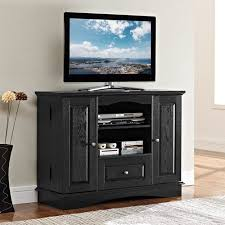 Black Tv Cabinet With Drawers Black Tv Stands