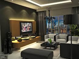 pleasing interior design for apartment living room with furniture