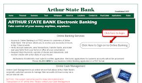 arthur state bank online banking login cc bank
