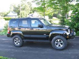 2008 lifted jeep grand 2008 liberty with 3in lift and 285 75 16 s custom skids and