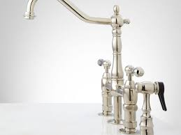 Polished Brass Kitchen Faucet Satin Nickel Polished Brass Kitchen Faucet Wide Spread Two Handle