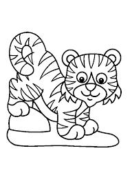 dessin ã imprimer bebe tigre