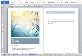 annual report template word annual report template with cover photo