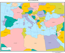 Middle East Map Capitals by Maps Of Europe Throughout Map Of Mediterranean Roundtripticketme