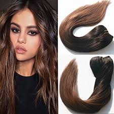 ombre hair extensions uk 14 inch black to brown ombre hair extensions mocha balayage clip
