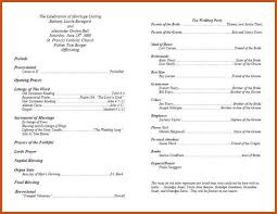 wedding program templates wedding programs template sop exle