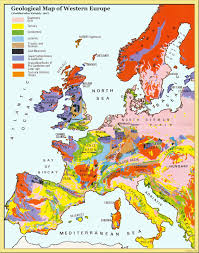Western Europe Physical Map by Online Maps Western Europe Geological Map